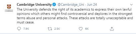 Cambridge University, Priyamvada Gopal, Abolish whiteness