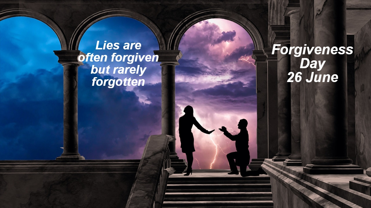 Forgiveness Day, lies, polygraph examiners, forgiven but not forgotten